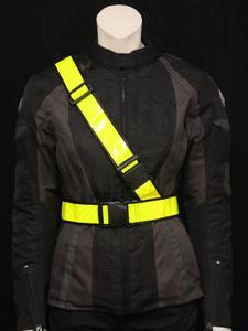 Motocyklowy Pas Odblaskowy - czarny || żółte || pomarańczowe - 2832669827