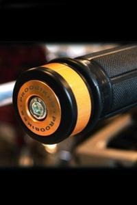 Refleksyjne odważniki kierownicy Proobikes BOZ RACING - gold - 2832663720