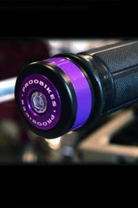 Refleksyjne odważniki kierownicy Proobikes BOZ RACING - violet - 2832663723