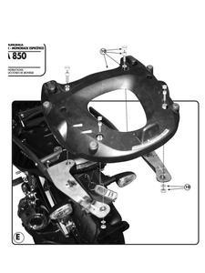 Stelaż pod kufer centralny Monokey do Mana 850 / Mana 850 GT (08-16) - 2832670319