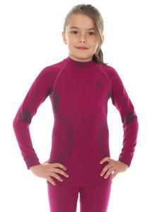 Bluza dziewczęca THERMO BRUBECK - JAGODOWY - 2858362885