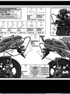 Stelaż pod sakwy miękkie do Yamaha FZ6 S2 / FZ6 600 Fazer S2 (07 > 11) - 2832671425