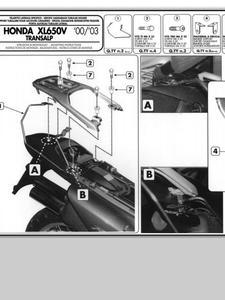 Stelaże pod sakwy boczne Honda XL 650V Transalp (00 > 07) - 2832671542
