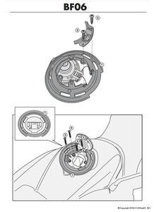 Uchwyt na tankbag BMW BF13 - 2832671582