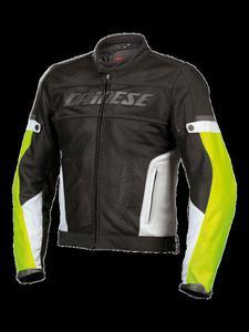 Kurtka tekstylna Dainese G. AIR-FRAME TEX - Nero/Nero/Bianco - 2832671824