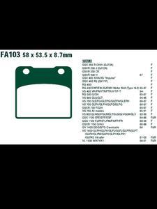 Klocki hamulcowe EBC FA103HH 58 x 53.5 x 8.7mm NA TYŁ - 2832674236