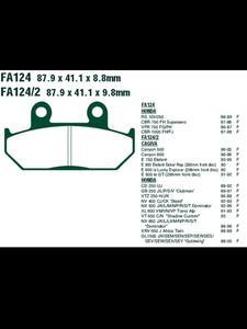 Klocki hamulcowe EBC FA124/2V 87.9 x 41.1 x 9.8mm NA PRZÓD - 2832674250