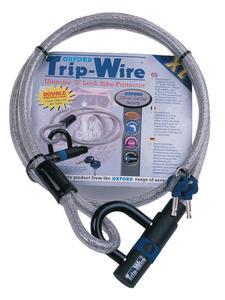 Linka z metalowej plecionki OXFORD Trip-Wire z dodatkowym zamknięciem długość 1.6m SS - 2832675306