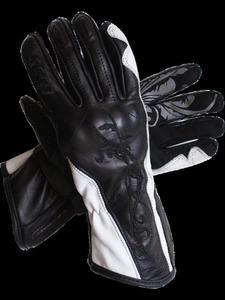Damskie rękawice motocyklowe SECA SHEEVA II - Black/white - 2832675868