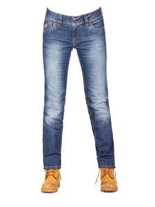Damskie jeansowe spodnie motocyklowe FREESTAR RAYA niebieskie - 2832676877
