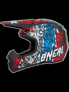 Kask Motocross O'neal Seria 5 Vandal: Black/Red/Blue - Black/Red/Blue - 2832681365