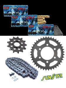 Aprilia DORSODURO 1200 [11-12] zestaw napędowy DID525 ZVMX G&G SUPER STREET(X-ring hiper-wzmocniony, złoty) zębatki SUNSTAR - DID525 ZVMX G&G - 2832683032