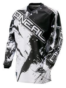 Bluza Enduro O'neal Element SHOCKER - Black/white - 2835559805