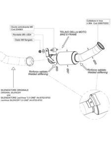 Kolektor niewymagający katalizatora LeoVince do KTM 690 DUKE i.e. [12-16] - 2837768010