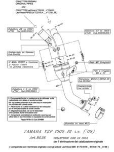 Kolektor niewymagający katalizatora LeoVince do YAMAHY YZF R1 1000 i.e. [09-14] - 2838079464