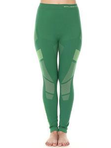 Spodnie damskie BRUBECK DRY z długą nogawką - zielony/limonka - 2839015656