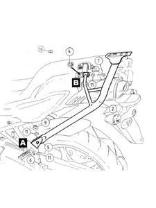 Stelaż centralny ALU-RACK Hepco&Becker Yamaha FZ 6 / Fazer [07-] Czarny - 2841548718
