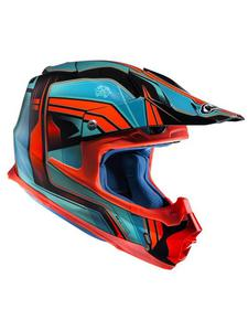 Kask off-road HJC FX-CROSS PISTON - Blue/red - 2844647450