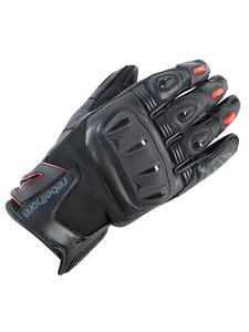 Rękawice skórzano-tekstylne REBELHORN Flux Pro - black/red - 2844954442