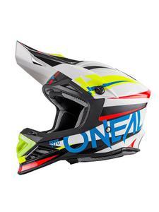 Kask motocross O'neal Seria 8 AGGRESSOR - WHITE/BLUE - 2845171208