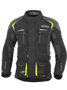 Motocyklowa kurtka tekstylna Büse Trento - czarno-neonowy - 2845587284