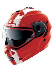 Szczękowy kask motocyklowy CABERG DUKE II LEGEND - Red/White - 2846983556