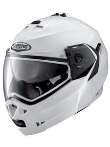 Szczękowy kask motocyklowy CABERG DUKE II - White Metalic - 2846983564