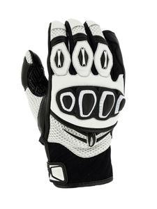 Rękawice motocyklowe RICHA TURBO - Black/white - 2858362951