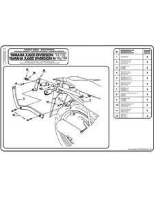 Stelaż pod kufer centralny MONOKEY i MONOLOCK Yamaha XJ 600 Diversion N / XJ 600 Diversion / XJ600 N) - 2832662871