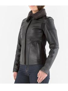 Damska kurtka skórzana Knox Phelix Leather Biker - [CZARNA] - black - 2850803850