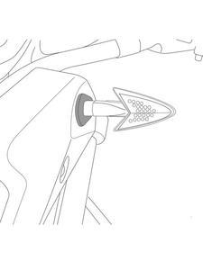 Uchwyty PUIG do kierunkowskazów przednich do Honda - 2853194118