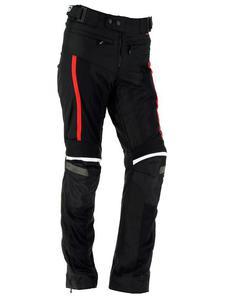 Tekstylne spodnie motocyklowe RICHA AIRVENT EVO - black/red - 2856760267