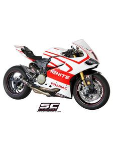 Kompletny układ wydechowy SC Project (siatka tytanowa na wylocie tłumika) do Ducati PANIGALE 1199 / S / R [12-16] - 2858209780