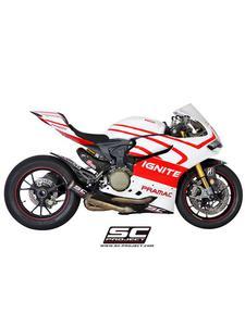 Kompletny układ wydechowy SC Project (siatka tytanowa na wylocie tłumika) do Ducati PANIGALE 1199 / S / R [12-16] - 2858209782