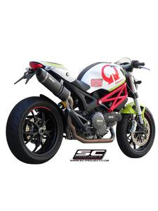 Pełny układ wydechowy 2-1 z tłumikiem owalnym Slip-on SC-Project do Ducati MONSTER 796 [08-14] - 2858209874