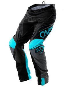 Spodnie MX O'neal Mayhem LITE BLOCKER - black/gray/teal - 2858209892
