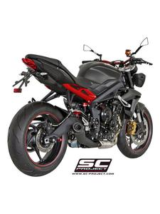 Tłumik stożkowy (Czarny Mat) Slip-on SC-Project do Triumph STREET TRIPLE 675 / R [13-16]/ RX [15-16] - 2858363089