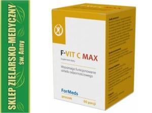 F-VIT C MAX, LEWOSKRĘTNA WITAMINA C, WITAMINA D, CYNK, PROSZEK, 60 DAWEK - 2848582703