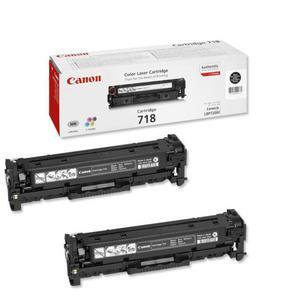 2 x Kaseta z czarnym (black) tonerem Canon CLBP-718Bk - 2827662545