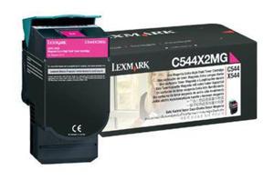 Wkład z purpurowym (magenta) tonerem Lexmark C544X2MG - 2827663523
