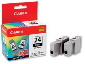 2 x Wkład atramentowy czarny (black) Canon BCI-24B2 - 2827663623