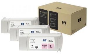 3 x wkład atramentowy jasnopurpurowy (light magenta) HP 81 (C5071A) - 2827663858