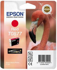 Wkład atramentowy czerwony (red) Epson T0877 - 2827664528