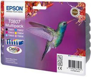 Wkład atramentowy MULTIPACK 6 kolorów Epson T0807 - 2827664590