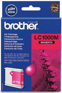 Wkład atramentowy purpurowy (magenta) Brother LC-1000M - 2827664668