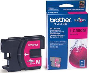 Wkład atramentowy purpurowy (magenta) Brother LC-980M - 2827664690