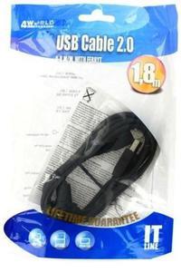 KABEL USB 2.0 A - B, M/M, FILTR FERRYT, 1.8 M - 2827664816