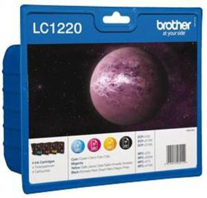 Wkład atramentowy MULTIPACK 4 kolory Brother LC1220VALBP - 2827664872