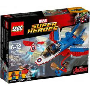 LEGO 76076 Odrzutowiec Kapitana Ameryki - 2846395593