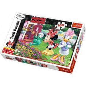 Puzzle 160 el. Podlewanie kwiatków - Disney Minnie - 2874704476